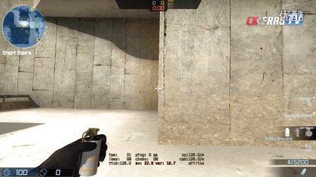 cnFrag.com - CS:GO De_dust2 A小道烟雾封锁警家