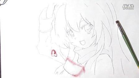 《龙与虎》 190分钟画出逢坂大河 彩色粉笔版