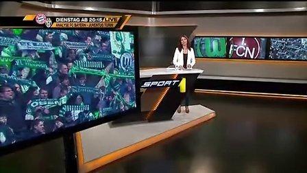德甲27轮比赛集锦