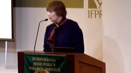 2012年全球粮食政策报告发布讲座_Mary Bohman