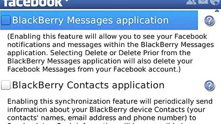 Getting started with Facebook 2.0 for BlackBerry smartphones