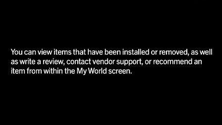 Using My World in BlackBerry App World 3.0