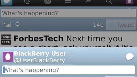 Using Twitter 2.1 for BlackBerry smartphones