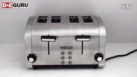 特价DEGURU德专家DTO104家用全自动不锈钢烤面包片机多士炉吐司