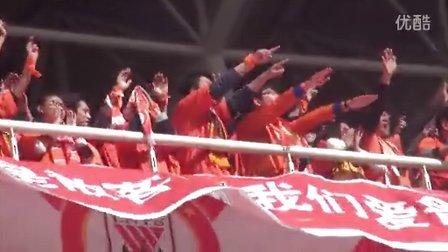 4.6山东鲁能2-1天津泰达 球迷之散客为橙浪加油!