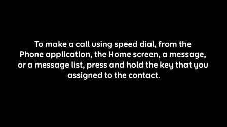 Setting up and using Speed Dial