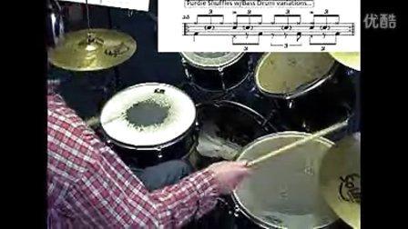 架子鼓 布鲁斯节奏型练习 注意是shuffles节奏 不要打错哦
