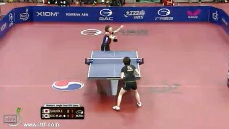2013韩国公开赛女单决赛 徐孝元VS石川佳纯