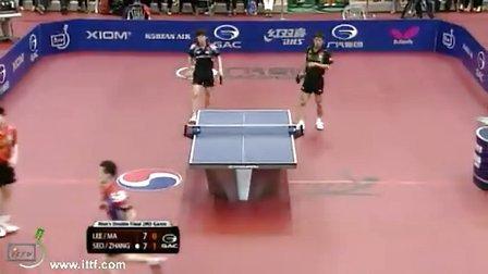 2013韩国公开赛男双决赛 张继科/徐贤德VS马龙/李廷佑
