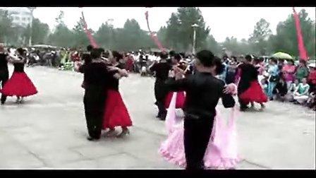 交谊舞周口渔歌教学班全民健身活动表演-国标舞慢四步《马兰花》
