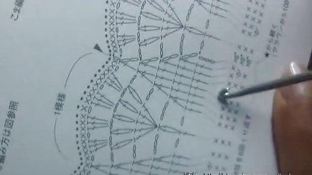 第56集 塔式图案帽檐的淑女帽 许红霞棉草拉菲钩编教学视频