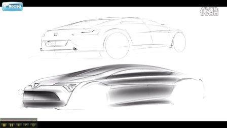 标致汽车设计师教你手绘板画汽车