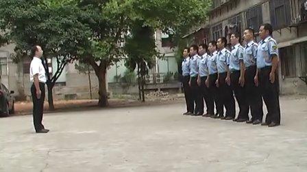 酒店保安队列训练