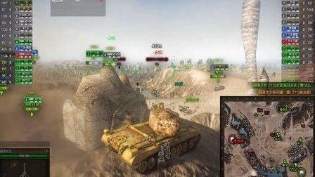 坦克世界t30在480米狙杀t71