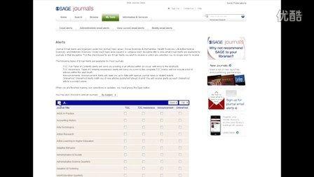 """SAGE Journals 平台- """"我的工具""""和""""高级检索功能""""演示"""