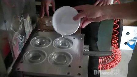 果冻封口机,杯封口机(半自动一出四,带滑轨),手动卷膜