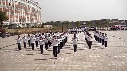 安徽太湖县职教中心11电子商务班之飒爽英姿