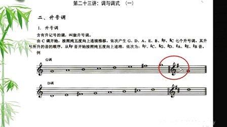 【学习五线谱】第二十三课-调与调式(一)