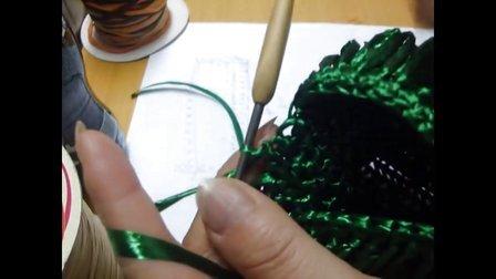 第58集 PRADA款小手提包 许红霞棉草拉菲钩编教学视频