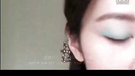 绿色主题自然春妆 粘出隐形双眼皮