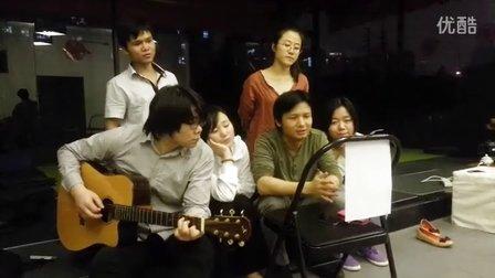 中国艾扬格瑜伽学院 密集课程 同学与院长合唱《同桌的你》