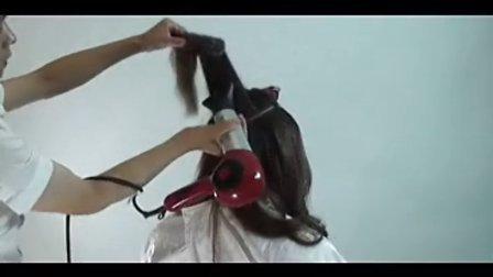 时尚美发吹风造型视频