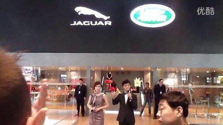 主持人 洪飞 2013上海国际车展 捷豹路虎展台