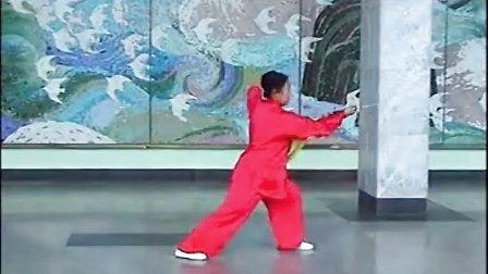 白淑萍演练北京陈式太极拳-传统套路-太极刀-竞赛套路