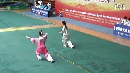 聊城洪武太极小队员马文蕾24式太极拳比赛视频