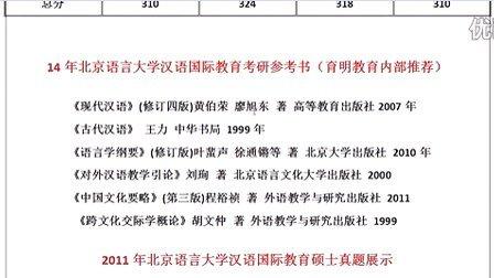 育明考研14年语言大学汉语国际教育复试分数线考试招生人数