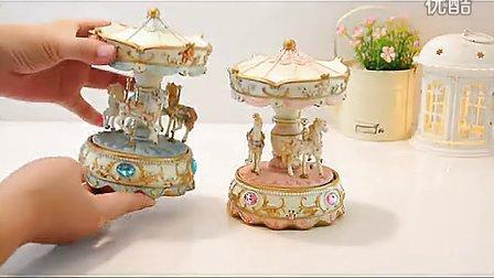旋转木马音乐盒八音盒天空之城生日礼物创意女生实用礼