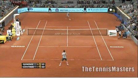 ATP 2013马德里大师赛 第二轮 德约科维奇VS迪米特洛夫 HL