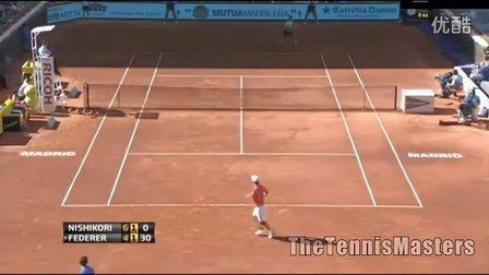 ATP 2013马德里大师赛 第三轮 费德勒VS锦织圭 HL