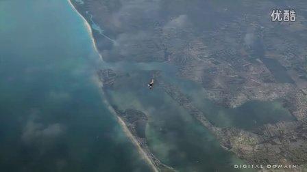 Iron Man 3钢铁侠3 从飞机掉落特效镜头