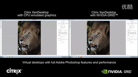 Photoshop Video- CPU only vs. NVIDIA GRID K2 with Citrix Xen