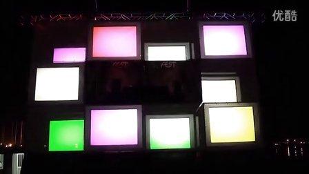 裸眼3D DJ台 酒吧dj台 mapping 酒吧 光影互动 3SVJ 酒吧装饰 酒吧灯光