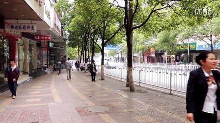 贵阳市中山东路小十字人行道高清监控镜头视频
