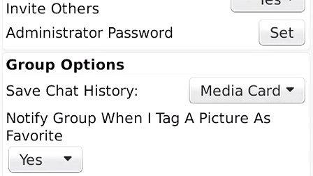 Administering groups in BlackBerry Messenger
