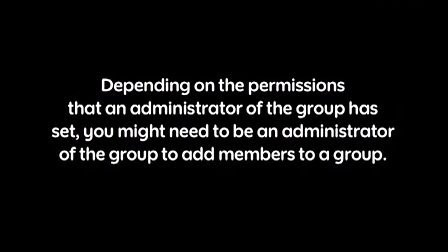 Creating groups in BlackBerry Messenger