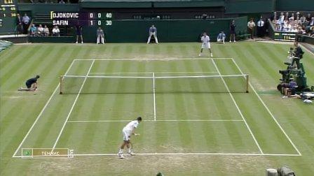 2008年温布尔顿网球公开赛男单第二轮 德约科维奇VS萨芬