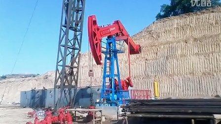 甘肃省庆阳市西峰区HH37P71油井试油现场