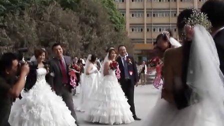 """一师阿拉尔市大学生""""塔河缘,军恳情""""集体婚礼(第一部)"""
