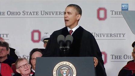 最新奥巴马俄亥俄州立大学英语演讲 Obama Ohio State University