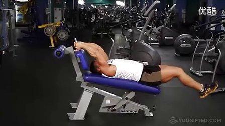 腹部锻炼--腿上举
