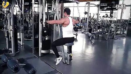 肩部锻炼--反向夹胸