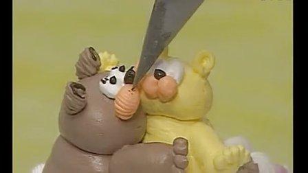 动物蛋糕裱花│蛋糕裱花花边基础│裱花蛋糕制作过程