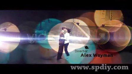 光晕特效中的字幕图片视频闪动展示AE模板
