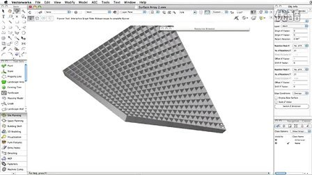 New Surface Array object in Vectorworks 2013