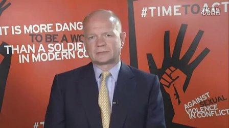防止在冲突中的性暴力-- 英国外交大臣视频