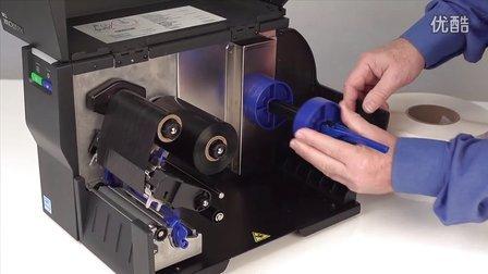 美国普印力T2N条码打印机标签安装